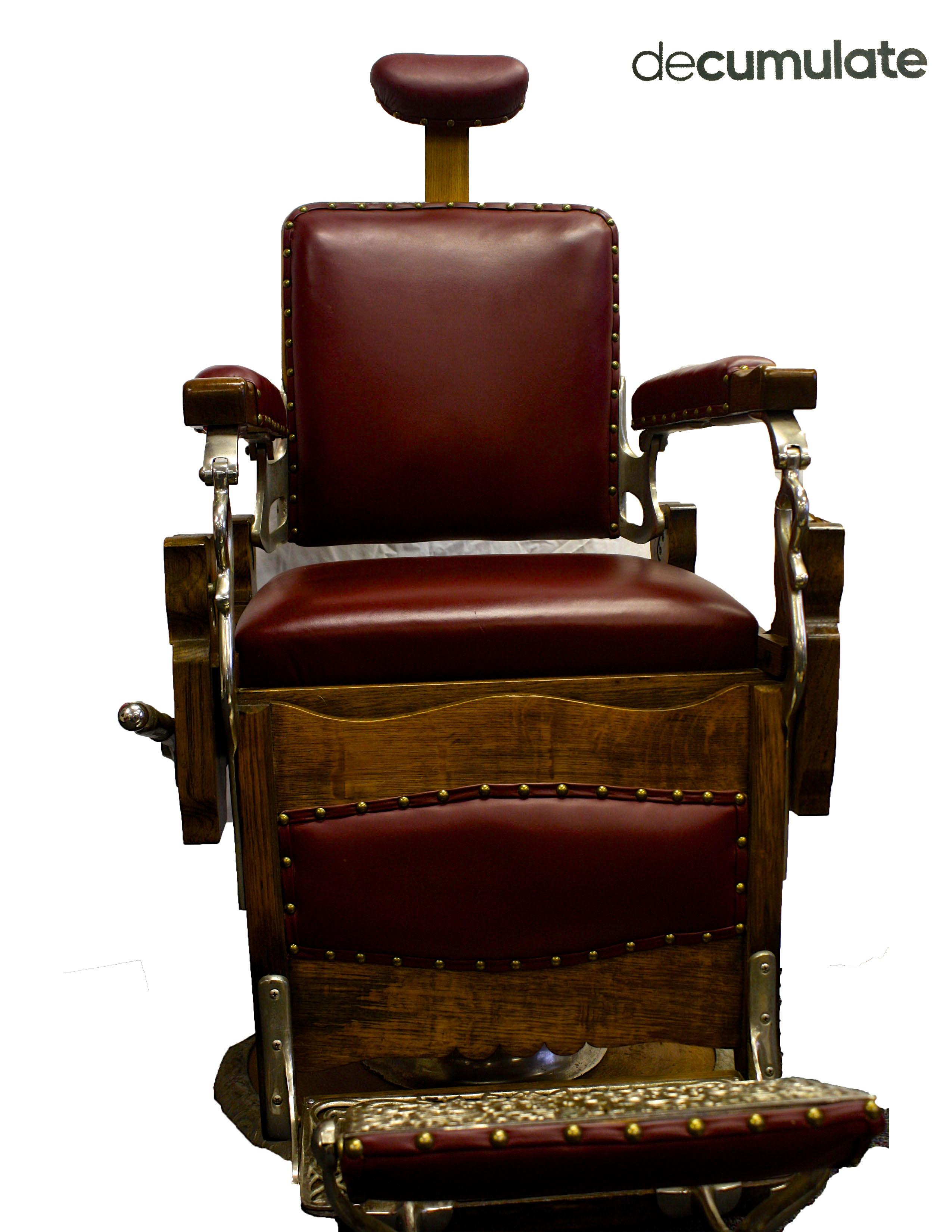 shop round triple barber koken chair rare